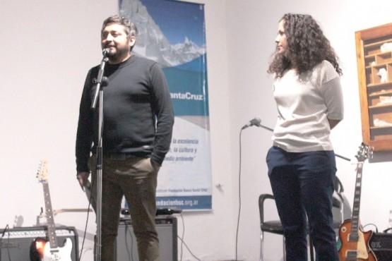 Oscar Canto junto a Malena Malbrán