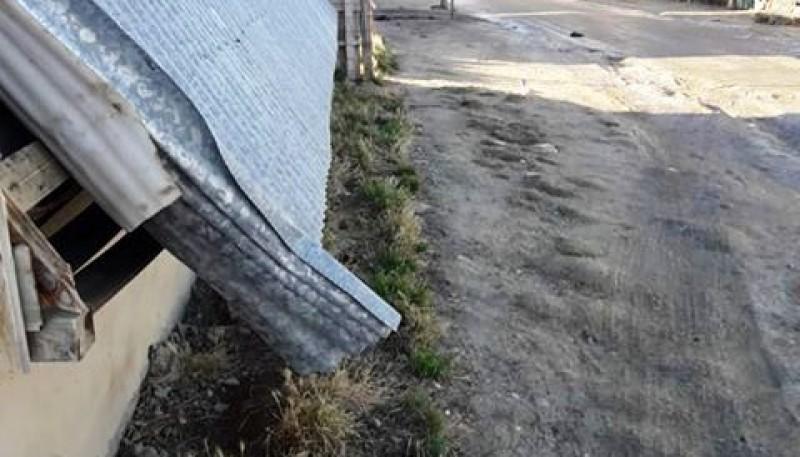 Así ha quedado el techo de la casa