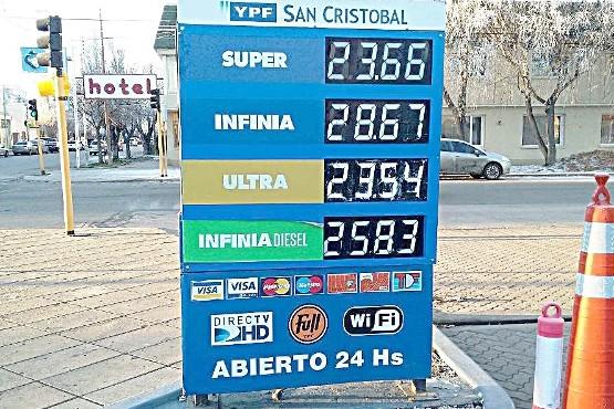 Ninguna de las naftas baja los $23 el litro tras aumento en Río Gallegos