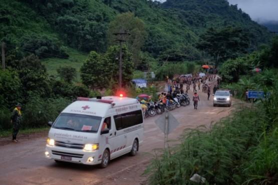 Todos los chicos fueron rescatados de la cueva en Tailandia