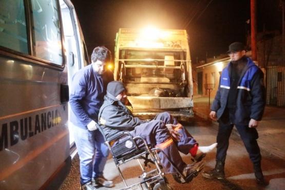 El hombre herido fue llevado al nosocomio local para una mejor asistencia. (Foto: C.G.)