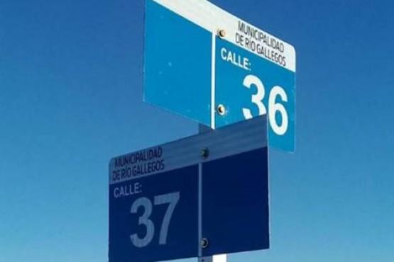 Instalan señalización en barrio Patagonia