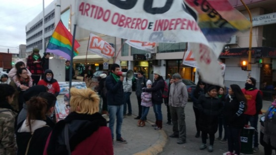 El acto se realizó en Kirchner y San Martín. (C.G)