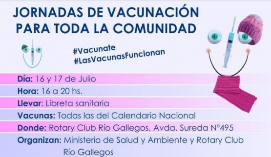 Se realizará una nueva campaña de vacunación en el Rotary