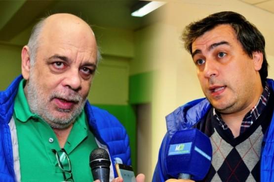 Facundo Prades, intendente de Caleta Olivia, Roberto Giubetich, intendente de Río Gallegos