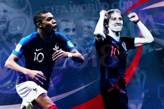 El Mundial llega su fin: Francia va por el bicampeonato y Croacia por su primera estrella