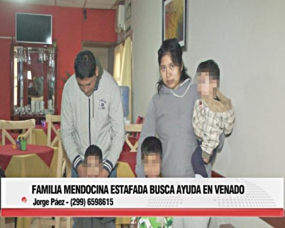Imagen de una nota que dio Jorge en Venado Tuerto, donde se presentaron como familia mendocina en busca de un hermano en Río Gallegos