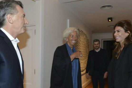 Christine Lagarde cenó con Mauricio Macri en la Quinta de Olivos. FOTO: PRESIDENCIA