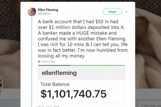 Le depositaron por error más de US$ 1 millón y los devolvió