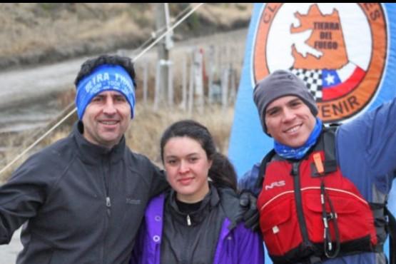 Santacruceños en el triatlón de invierno en Porvenir