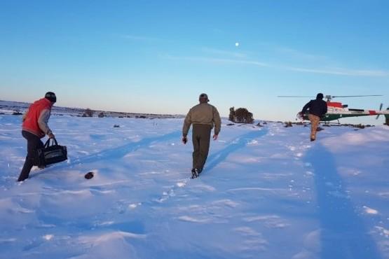 Operativo para rescatar a 7 personas varadas por la nieve