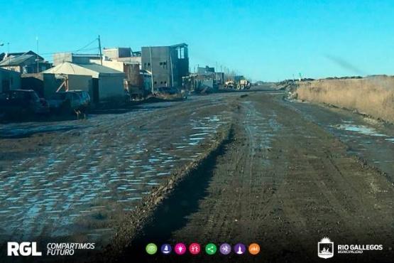 Relizaron trabajos de mantenimiento sobre calle Crucero General Belgrano