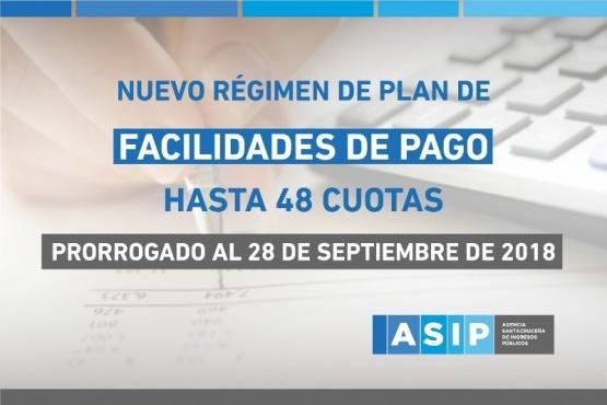 La ASIP prorrogó el plazo para regularizar deudas en 48 cuotas