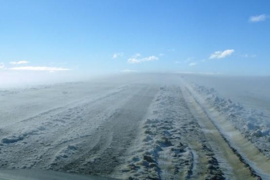 La nieve generó otro problema en las rutas.