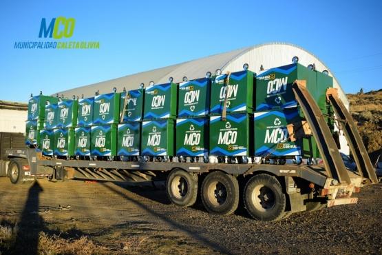 Caleta Olivia: más contenedores y camiones