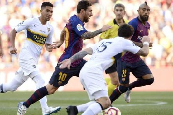 Con un tanto de Messi, el Barcelona goleó a Boca