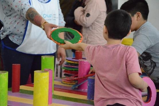 Familias participaron de la jornada recreativa que se desarrolló en el barrio San Benito