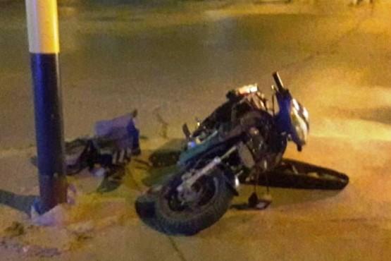 Motociclista en estado de ebriedad fue hospitalizado tras chocar