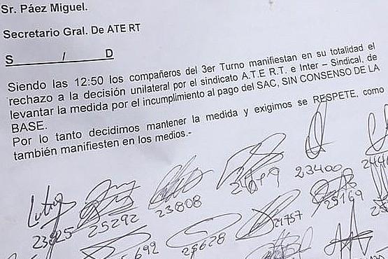 Autoconvocados denunciaron que la Intersindical ya pactó con Zeidán