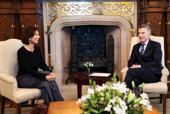 Macri recibió a la directora general de la UNESCO