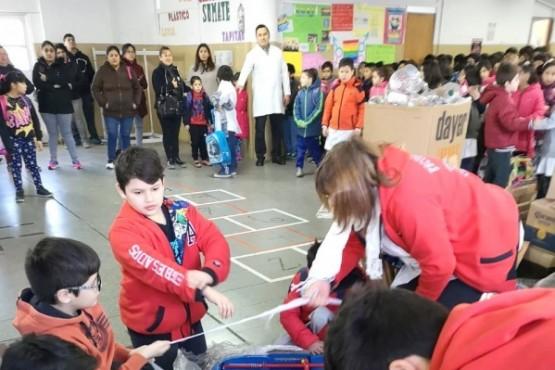 Proyecto de reciclaje de la Escuela Nº 69