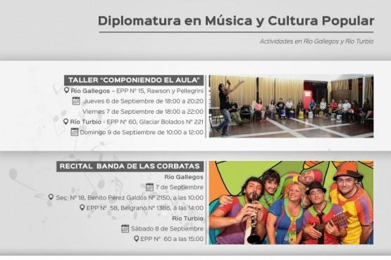 Diplomatura de Música y Cultura Popular con la presentación de la Banda de las Corbatas