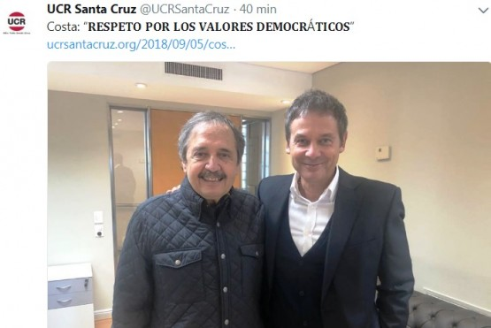 Costa se mostró con Alfonsín y destacó a su padre tras las críticas de Carrió
