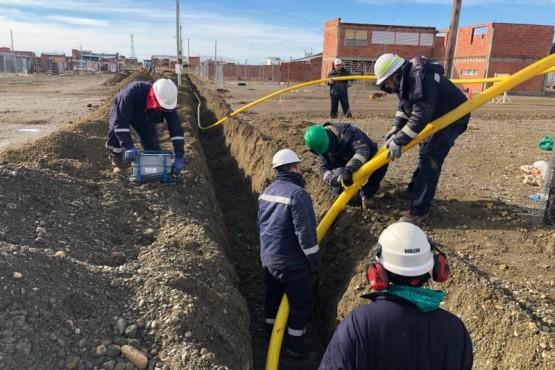 Las obras de la red de gas llegará a más familias