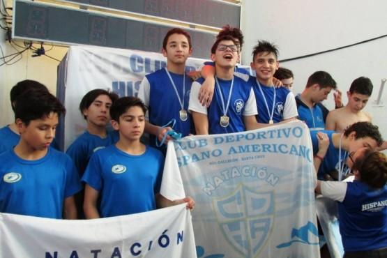 Los chicos subieron al podio muchas veces.