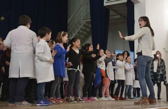 Los coros participaron de la capacitación.