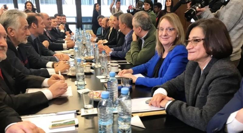 La gobernadora estuvo en el encuentro en el CFI.