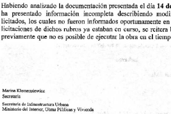 Nación rescindió una obra en Caleta Olivia