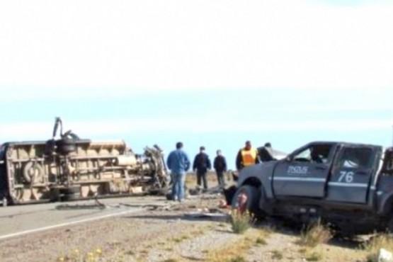 El trágico siniestro vial se registró en la Ruta Nacional 281 cerca de Jaramillo.