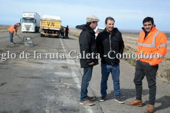 Diferencias en el bacheo de la Ruta Nacional N°3 y rutas de Chubut