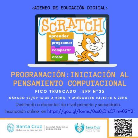 Se realizará el ateneo de programación para docentes primarios y secundarios