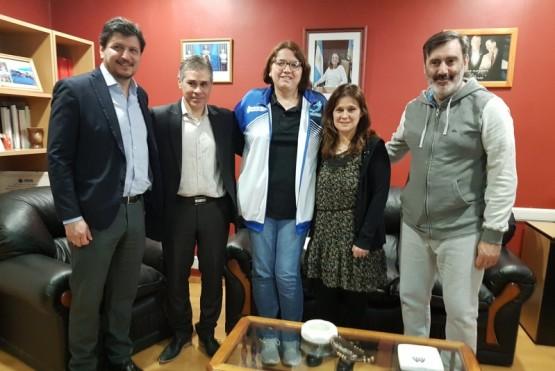 El Vicegobernador recibió a la deportista Karina Rodríguez