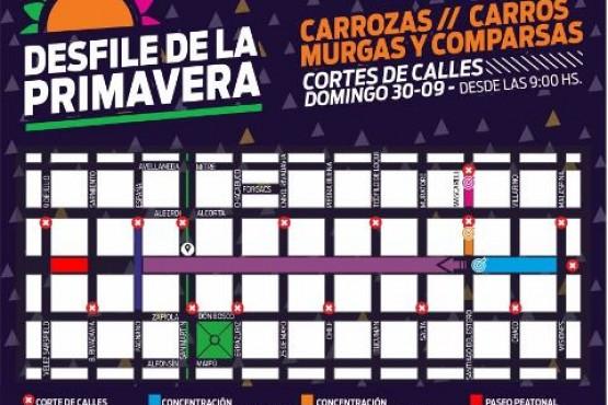 Cortes de arterias y preparativos para el Desfile de Carrozas