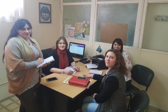Beltrán recibió a la Secretaria de Niñez de la Municipalidad