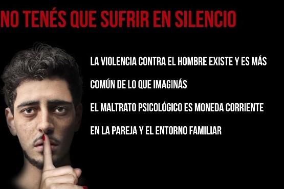 Los hombres también sufren de violencia.