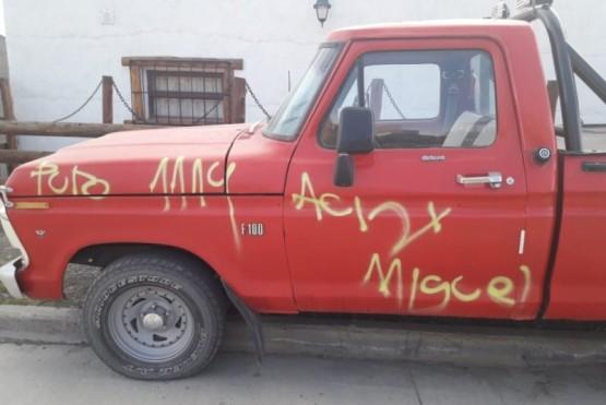 Vandalismo a varios vehículos