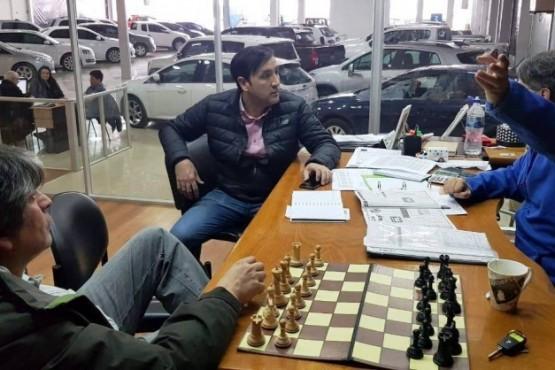 Garrido, Grasso y Harasic charlando