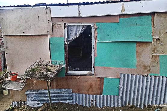 La vivienda precaria sin gas y con peligro de derrumbe.