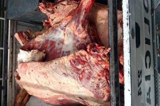 Detienen camión que transportaba carne ilegalmente