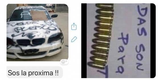 Amenazaron de muerte a Roxana Reyes