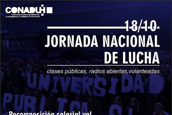 Jornada nacional de lucha en las universidades nacionales