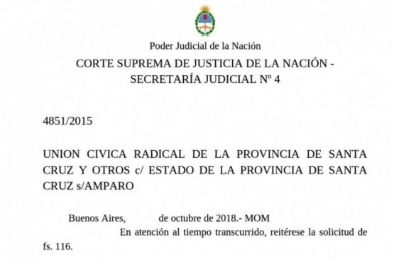 La Corte volvió a pedir expediente de Ley de Lemas al TSJ