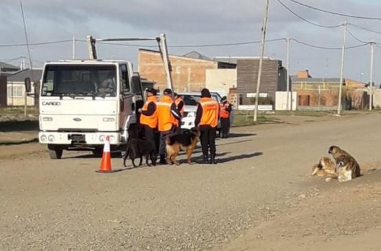 Realizaron operativo de control en el barrio San Benito