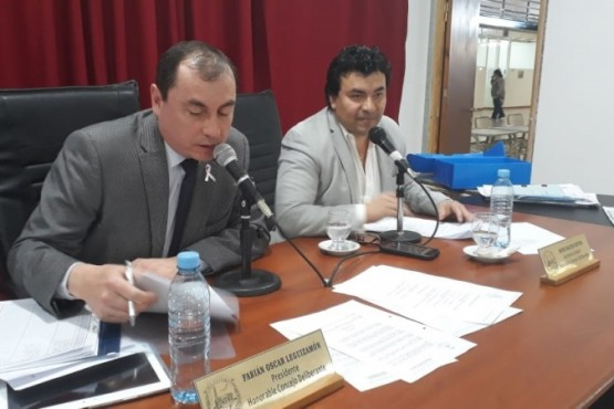 Ruiz en la presidencia del Deliberante