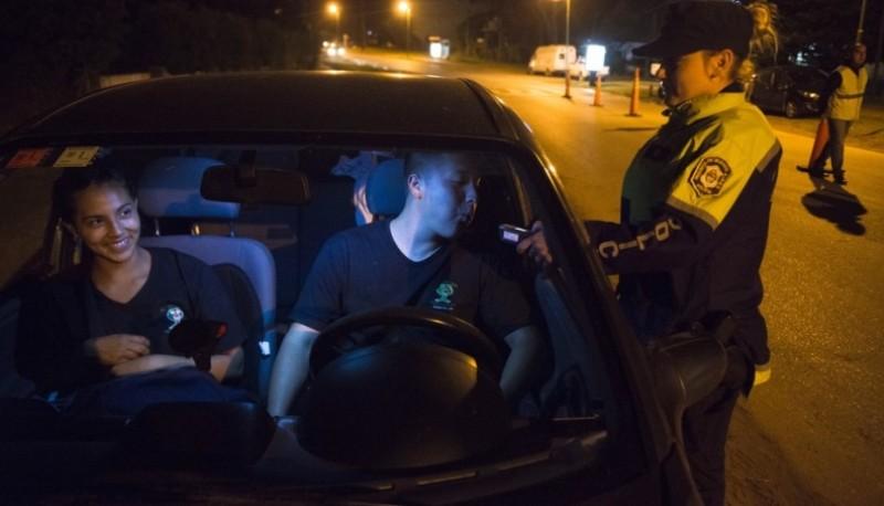 Controles de alcoholemia en Pinamar, el último verano. (Andres D'Elia)