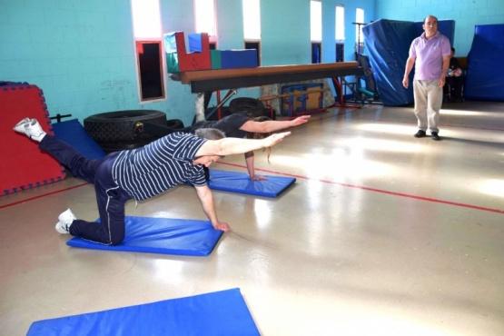 Gimnasia terapéutica en el gimnasio
